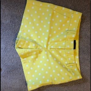 Ann Taylor Yellow Polka Dot Shorts
